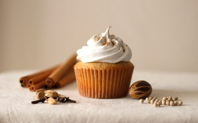 Chai Cupcakes with Marshmallow Frosting