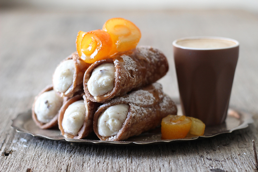 Sicilian Cannoli with Homemade Ricotta