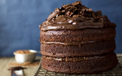 Chocolate Milo Peanut Butter Cake
