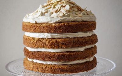 Spiced Sweet Potato Carrot Cake with Muscovado Frosting