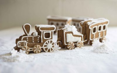 Christmas Gingerbread Biscuit Train