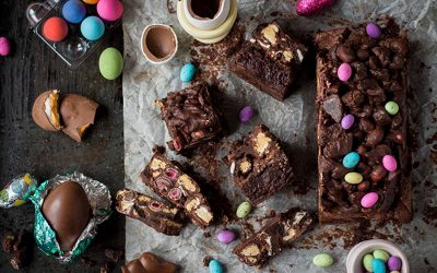 Easter Rocky Road Chocolate Brownies