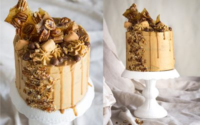 Muscovado Pecan Cake with Cream Cheese Frosting
