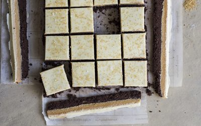 Demerara Fudge Bars with White Chocolate and Sea salt