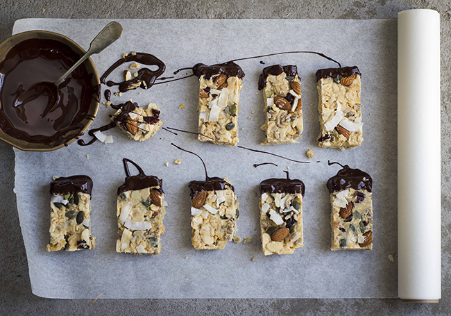 Condensed Milk Crunch Bars with Chocolate