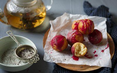 Tea-Glazed Brioche Doughnut Bites