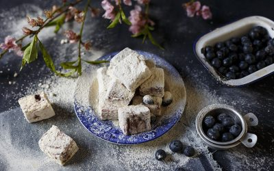 Blueberry White Chocolate Marshmallows