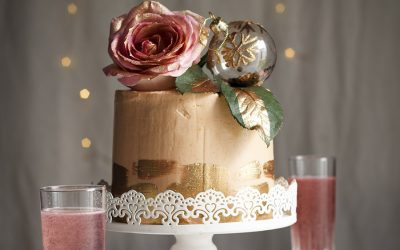 Rosé Champagne Chiffon Cake