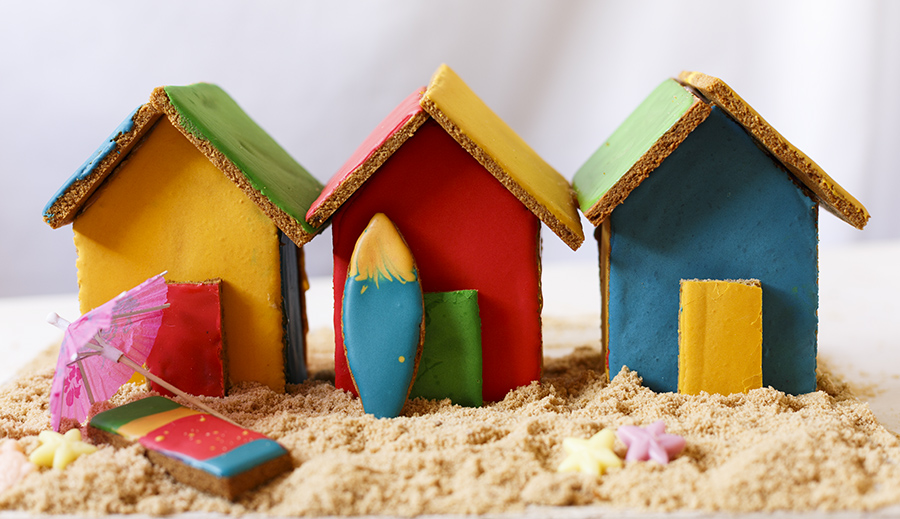 Gingerbread Beach Huts