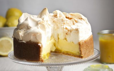 Lemon Meringue Baked Cheesecake