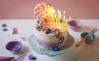 Watercolour Vanilla Birthday Cake