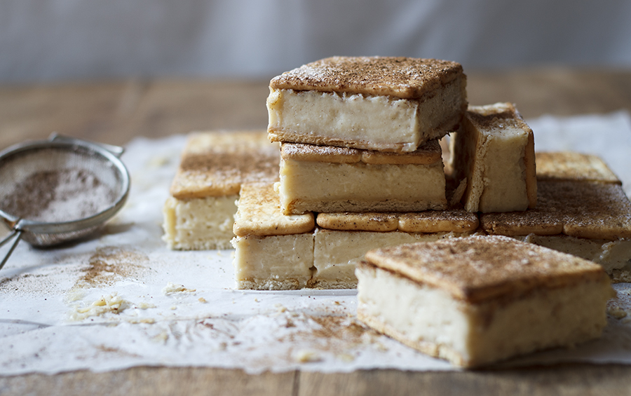 Cheat's Milk Tart Custard Slices with Cinnamon