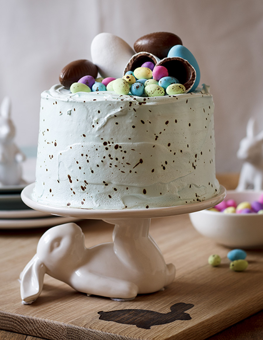 Speckled Vanilla Cake With Marshmallow Easter Egg Filling The Kate Tin