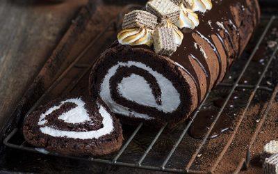 Chocolate Marshmallow Log (Flourless)