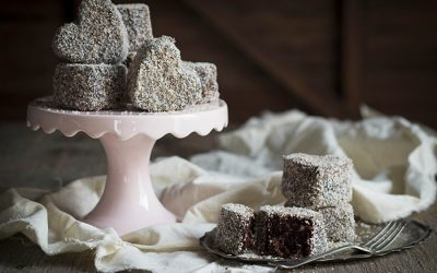 Microwave Double Chocolate Lamingtons