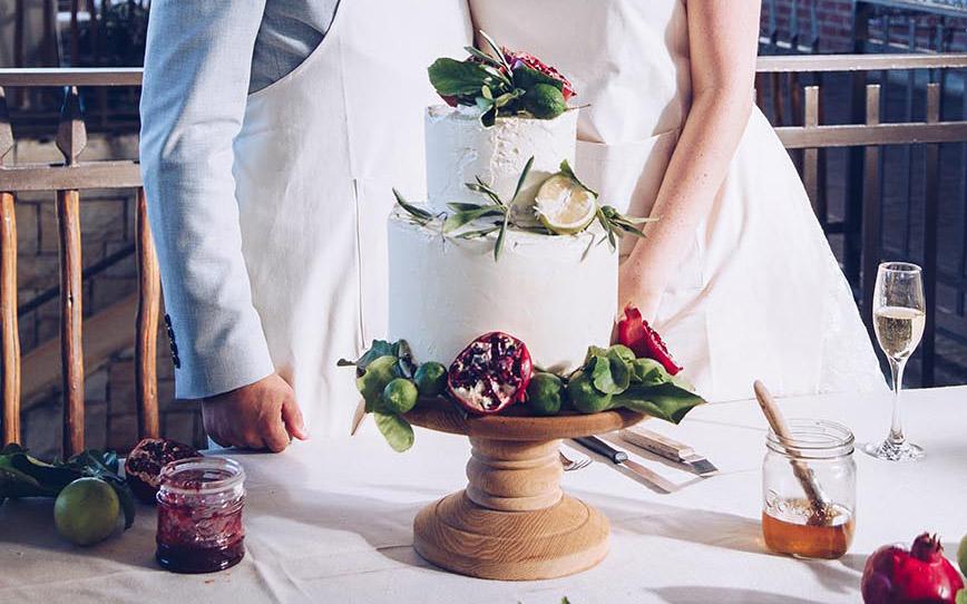 Lemon Raspberry Wedding Cake with Vanilla Buttercream