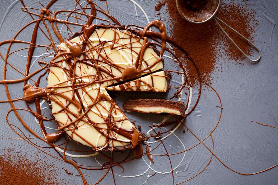 Triple Chocolate Tart with Sea Salt