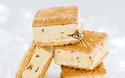 Peppermint Crisp Tart Ice Cream Sandwiches