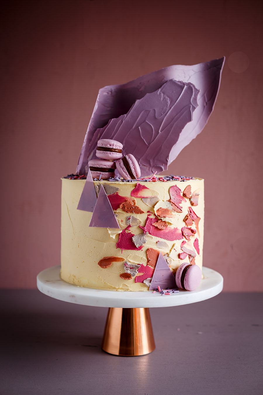 Cake inspired by the Comforting Home Palette and the Colour of the Year, Pictured rocks