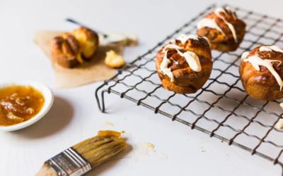 White Chocolate Marmalade Brioche Buns
