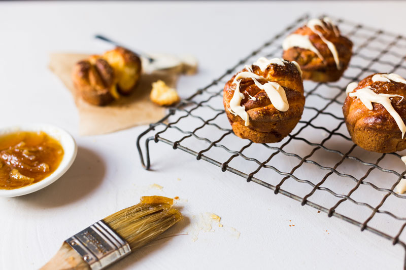 White Chocolate Brioche Muffins