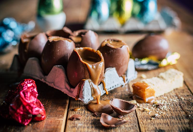 Millionaire Shortbread Easter Eggs