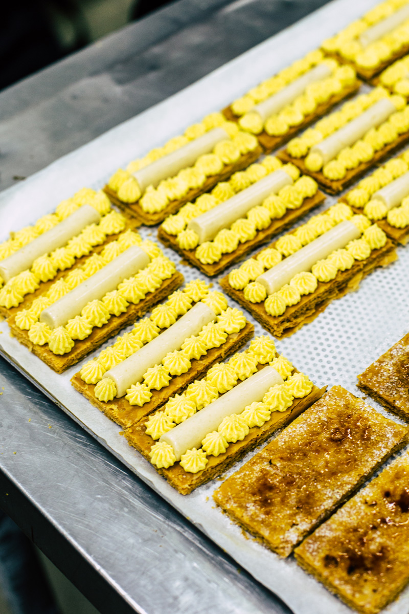 Mille Feuille being assembled