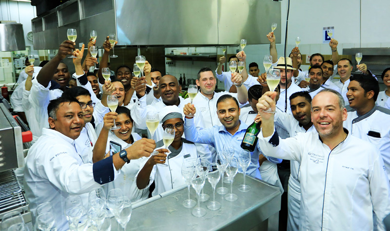 Contestants and Michelin Chefs of the 13th Festival Culinaire Bernard Loiseau