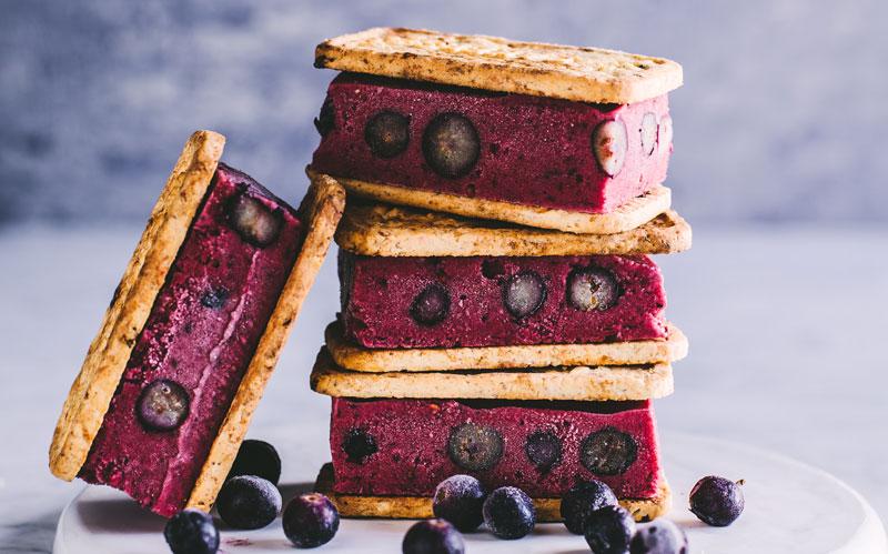 Berry Nice Cream Sandwiches