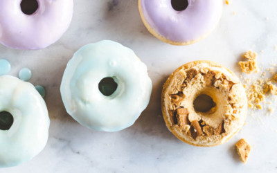 Baked Cereal Milk Doughnuts