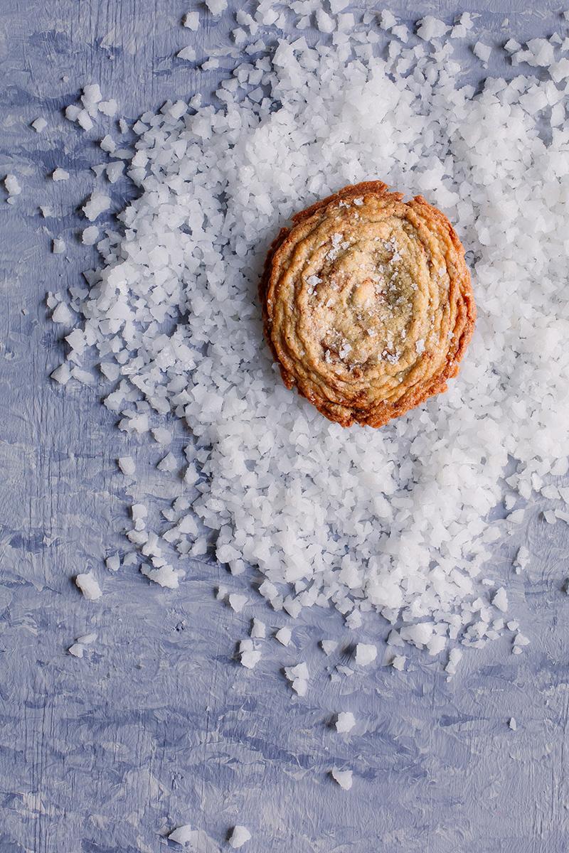 Pan-Bang Cookie on a bed of sea salt
