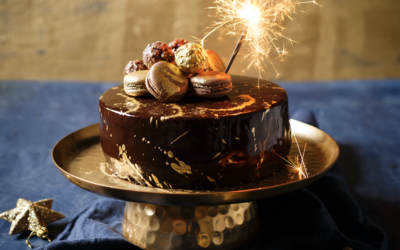 Caramel Tiramisu Mousse Cake with Mirror Glaze