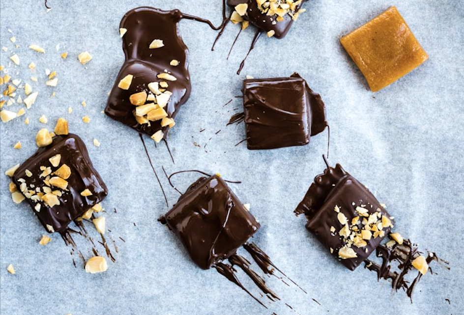 Chewy Chocolate Maple Brazil Nut Toffees
