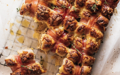 Cheddar, Sage and Bacon Savoury Hot Cross Buns