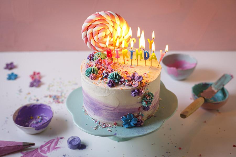 Magnificent Watercolour Vanilla Birthday Cake The Kate Tin Funny Birthday Cards Online Alyptdamsfinfo
