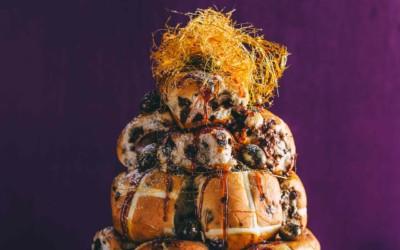 Hot Cross Bun Croquembouche