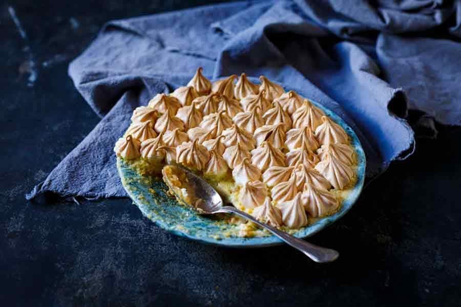 Baked Lemon Meringue Pudding