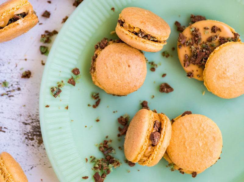 Peppermint Crisp Tart Macarons