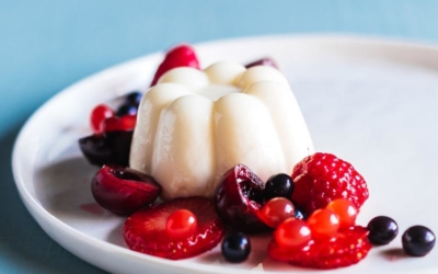 White Chocolate Coconut Panna Cotta & How To Plate A Beautiful Dessert