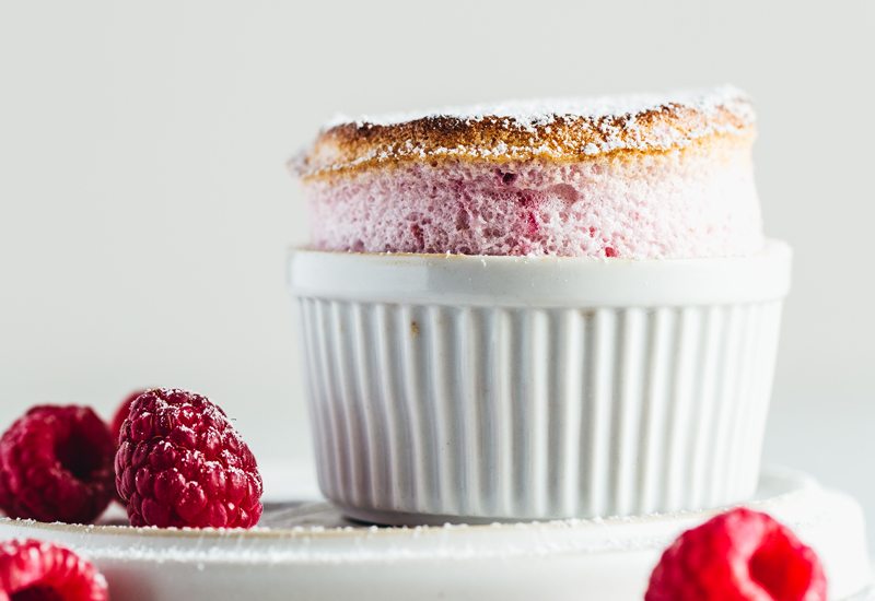 The Easiest Flop Proof Raspberry Soufflé