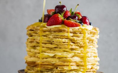 Malva Pudding Waffle Cake